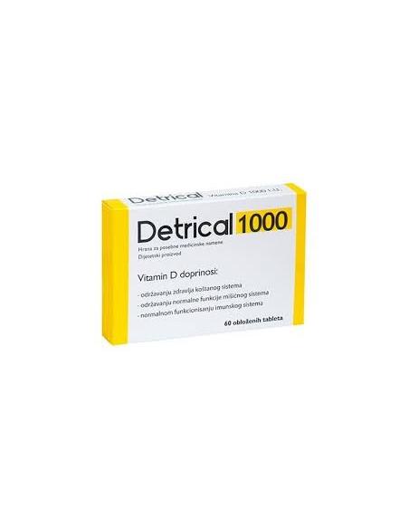 Zdrovit Detrical 1000 UI x 60 de comprimate filmate