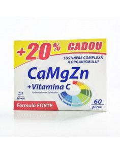 Zdrovit CaMgZn +Vitamina C x 60 Plicuri