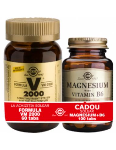 Solgar Formula VM 2000 60 Tablete + Magnesium cu B 6 100 Tablete