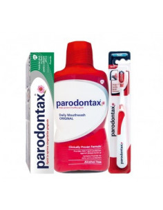 Parodontax OFERTA : periuta dinti, pasta dinti 75ml + apa de gura 300ml