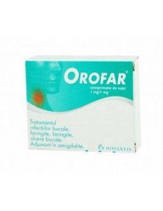 Orofar 1mg/mg x 24 comprimate de supt