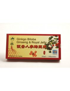Ginkgo Biloba cu Ginseng si Royal Jelly x 10 fiole 10 ml