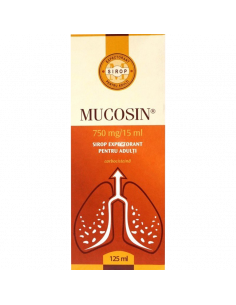 Mucosin 750 mg/15 ml sirop expectorant pentru adulţi 125 ml