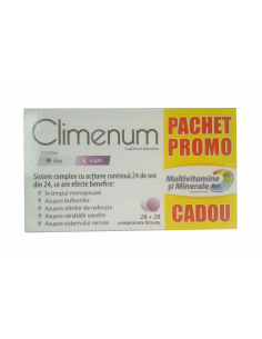 Zdrovit Climenum x 56 comprimate filmate + Multivitamine si Minerale x 56 comprimate