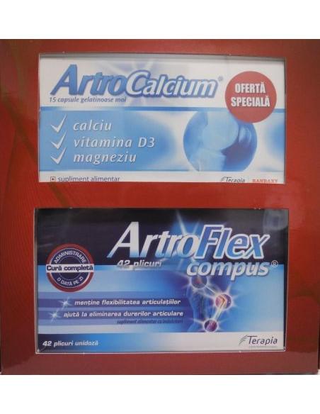 OFERTA ArtroCalcium x 15 cps + ArtroFlex Compus x 42 plicuri