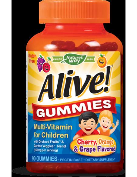 Alive! Gummies Multivitamine pentru copii x 90 jeleuri