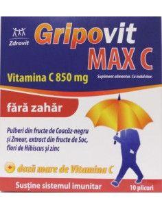 Gripovit Max C Fara zahar x 10 plicuri