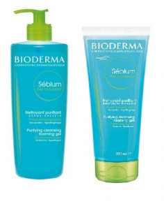 Bioderma Sebium OFERTA gel spumant tub 200ml + Gel spumant cu pompita 200ml