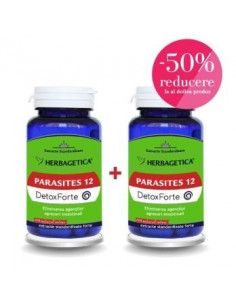 Herbagetica Parasites 12 DetoxForte x 60 cps + al doilea la 50% Reducere