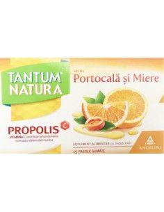 Tantum Natura aroma portocala si miere x 15 pastile gumate