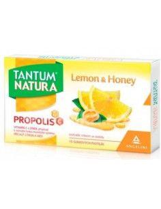 Tantum Natura aroma lamaie si miere, cu propolis, vit.C, Zinc  x 15 pastile gumate