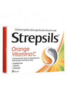 Strepsils Orange Vitamina C...