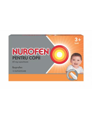 Nurofen pentru copii 60mg 10 supozitoare