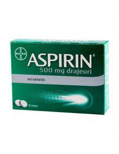 Aspirin 500 mg 20 drajeuri