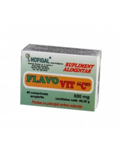 Flavovit C 500mg 40 comprimate Hofigal