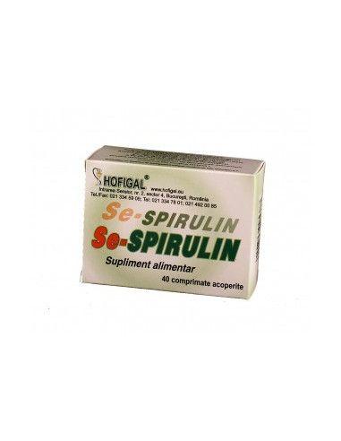 Se-Spirulin x 40 comprimate