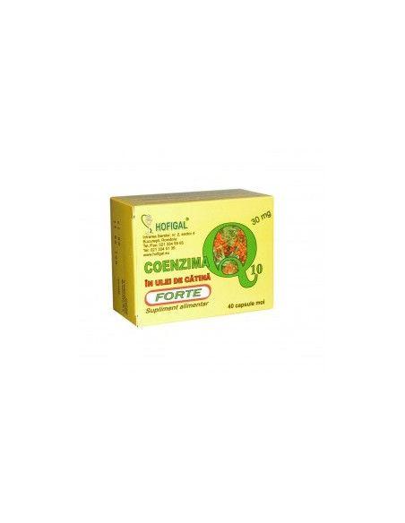 Coenzima Q10 Forte in ulei de catina 30 mg x 40 cps moi Hofigal