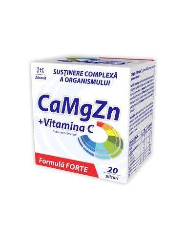 Ca Mg Zn + Vitamina C x 20 plicuri
