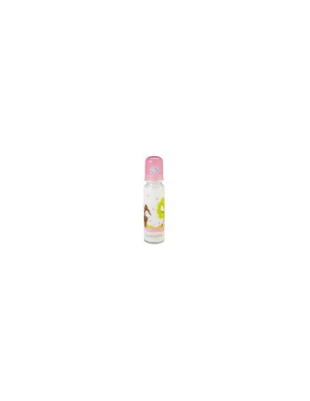 Baby Nova Biberon sticlă 250ml - roz