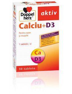 Doppelherz Aktiv Calciu + D3 x 30 tablete
