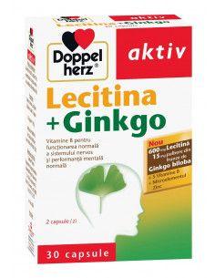 Doppelherz Aktiv Lecitina + Ginkgo x 30 capsule