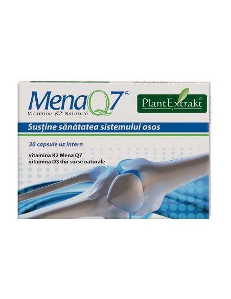 Mena Q7 Vitamina K2 naturala, 30 capsule, PlantExtrakt