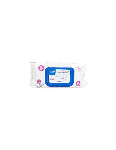 Mustela Bebe servetele curatatoare si calmante x 70 bucăţi