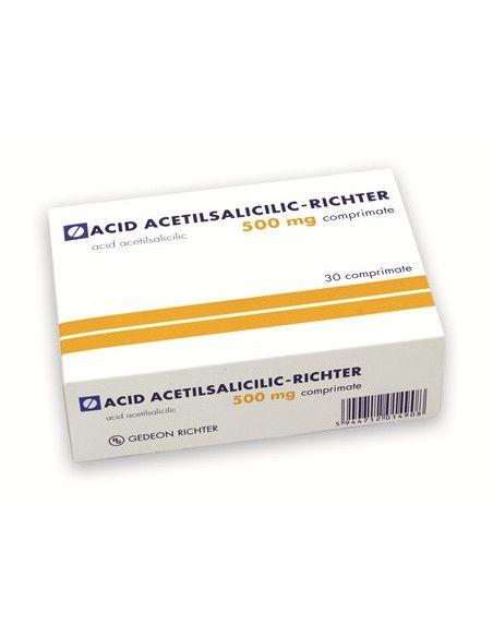 Acid acetilsalicilic tamponat 500 mg x 30 comprimate