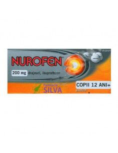 Nurofen 200 mg x 10 drajeuri copii 12+