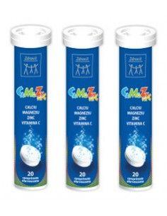 Zdrovit CaMgZn + Vitamina C x 20 compr.efervescente