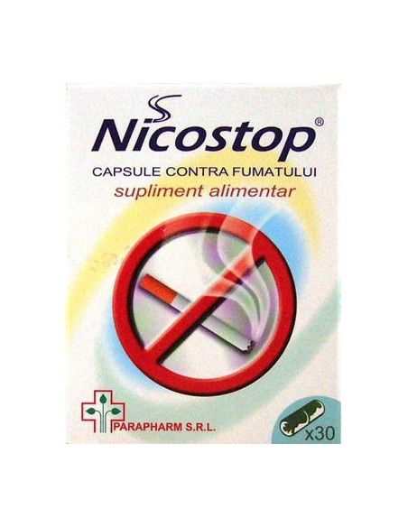 Nicostop - 30 capsule contra fumatului (Parapharm)