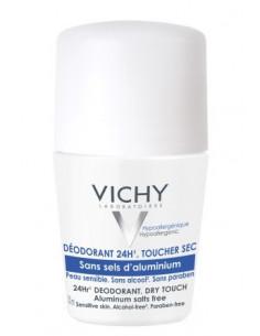 Vichy Roll-on Dry Touch, Eficacitate 24h (fara saruri de aluminiu) 50ml