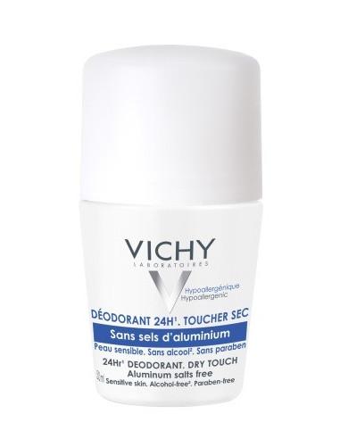 Vichy Roll-on Dry Touch, Eficacitate 24h (fara saruri de aluminiu)