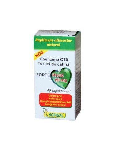 Coenzima Q10 forte Plus in ulei de catina x 60mg