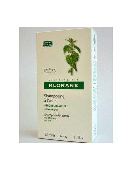Klorane Sampon cu extract de urzica pentru par gras 200ml