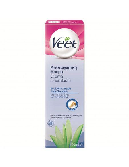 VEET Crema depilatoare piele sensibila cu Aloe Vera x 100ml