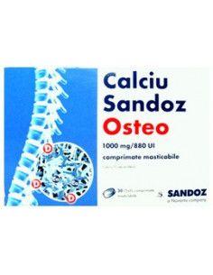 Calciu Sandoz Osteo 1000mg x 30cp masticabile