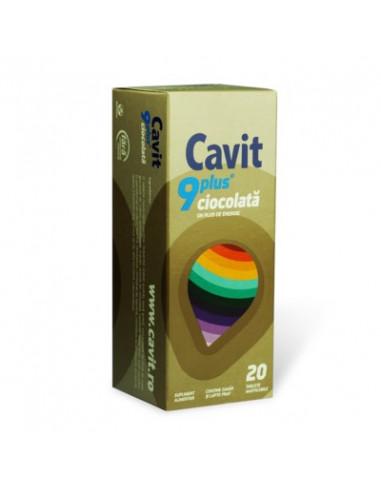 Cavit 9 Plus cu ciocolata x 20 tb.masticabile