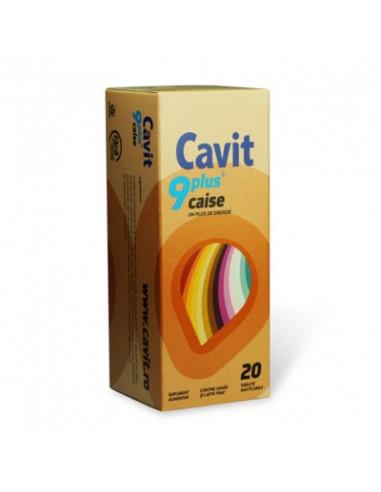 Cavit 9 Plus cu aroma caise x 20 tb.masticabile