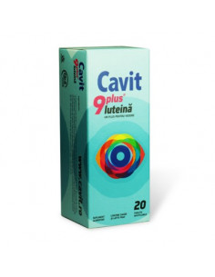 Cavit 9 Plus Luteina x 20 tablete masticabile