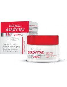 Gerovital H3 Derma+ Crema activ hidratanta 24h 50ml