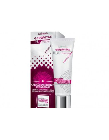 Gerovital H3 Evolution Perfect Look Crema luminozitate si hidratare 30ml