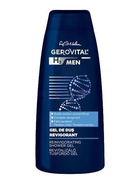 Gerovital H3 Men Gel de dus Revigorant 400ml