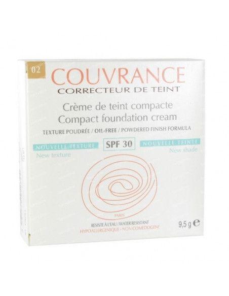 Avene Couvrance Fond de ten Compact SPF30 ten normal-mixt, nuanta 02 Natural x 10g