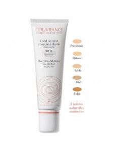Avene Couvrance Fond de ten fluid SPF15, nuanta 02 Natural x 30ml