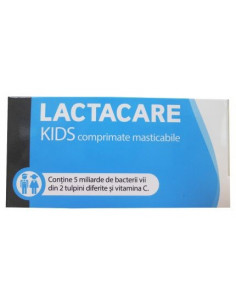 Lactacare Kids Vitamina C x 20 cpr masticabile