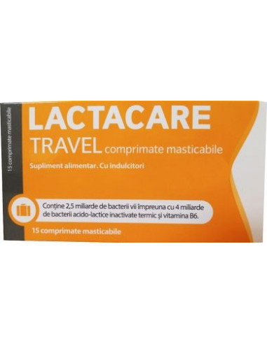 Lactacare Travel x 15 cpr.masticabile