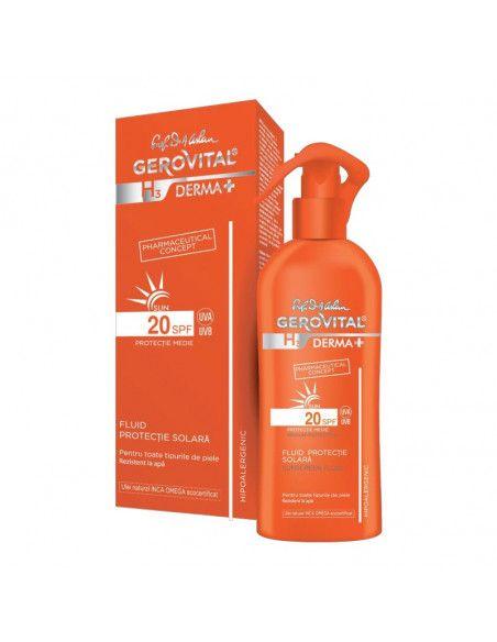 Gerovital H3 Derma+ Sun Fluid Protectie solara SPF 20 x 150ml