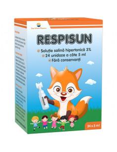 Respisun solutie salina hipertonica 3%, 24 doze