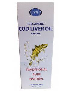 Ulei din ficat de cod (Cod Liver Oil) natural 240ml Lysi